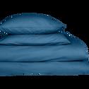Taie de traversin en coton Bleu figuerolles 43x190cm-CALANQUES