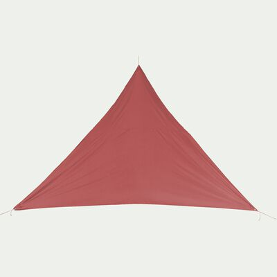 Voile d'ombrage triangle 3,6m - rouge ricin-Rosa