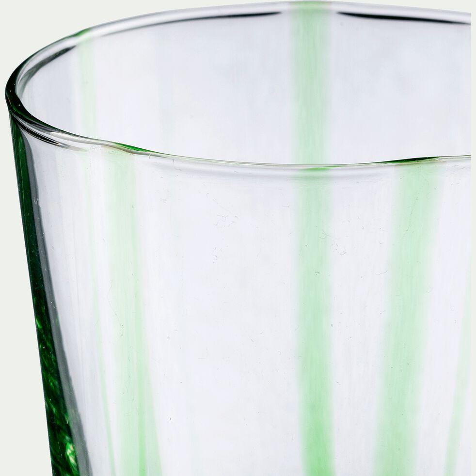 Verre à eau - vert D8xH11cm-MADERE