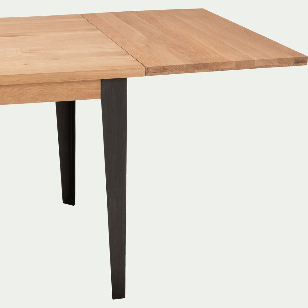 Table de repas extensible en chêne - 6 à 8 personnes sans allonge-MAUGUIO