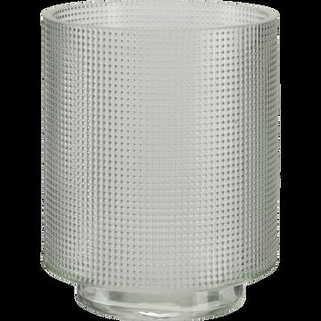 Photophore en verre transparent D7xH8cm-Axios
