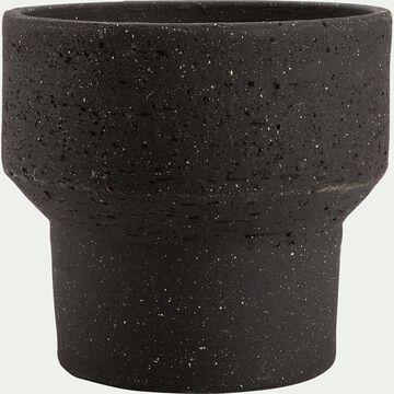 Pot en terre cuite - noir D28xH25cm-AREGNO