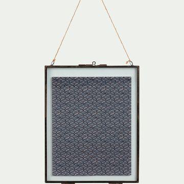 Cadre en fer effet rouillé - noir 20,7x26,5cm-CORTO