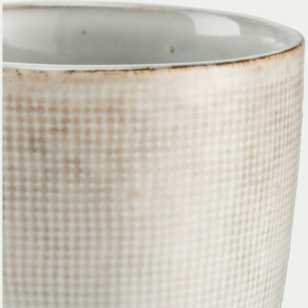 Mug en grès blanc 24cl-ALONG