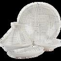 Tajine en terre cuite émaillée blanc D27cm-SOUK