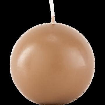 Bougie ronde brun albe D8cm-HALBA