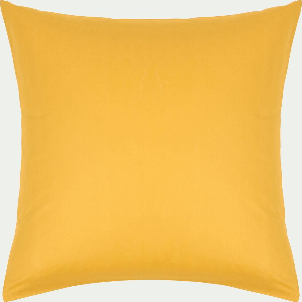 Taie d'oreiller enfant en coton 65x65cm - jaune-Calanques