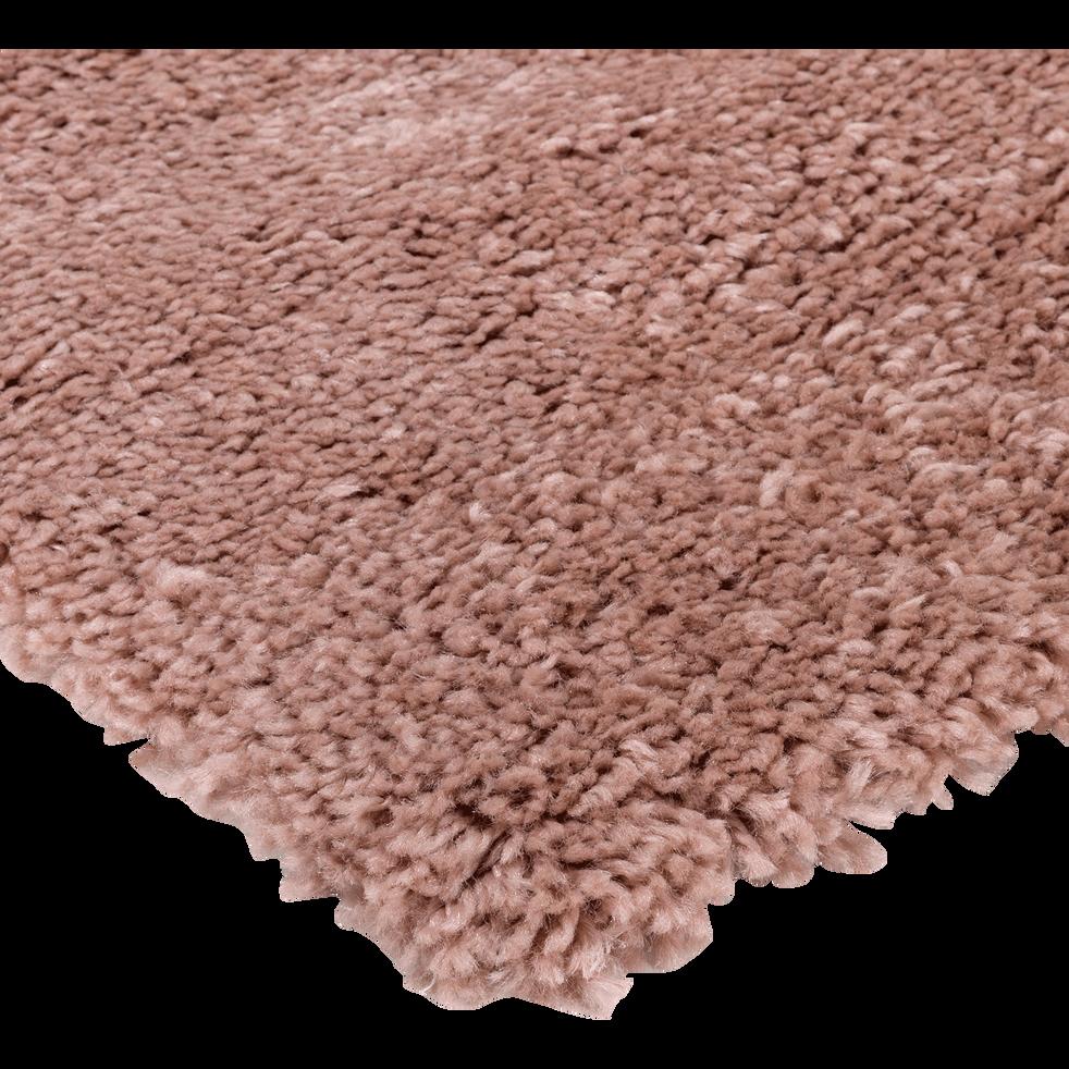 Descente de lit à poils longs rose poudré 60x110cm-KRIS