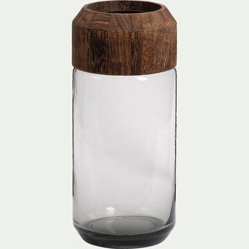 Vase en verre - marron H32cm-RUMENZU