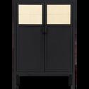 Commode 2 portes battantes en acier Noir-ANVERS