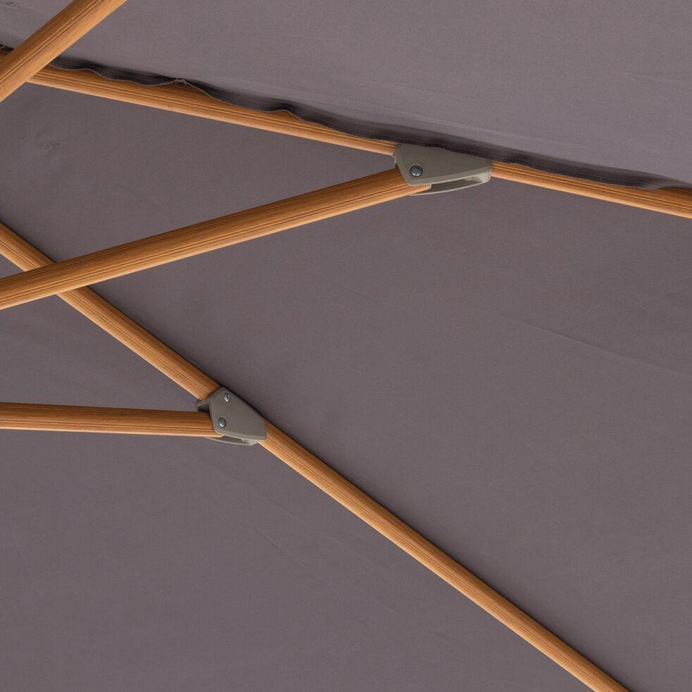 Parasol déporté avec manivelle L3xl3m - gris ardoise-CHADO