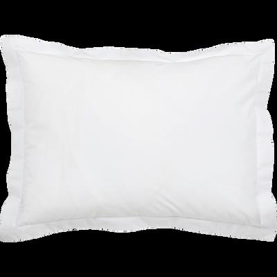 taie d'oreiller en percale lavé en 35x45cm blanc-PALOMA