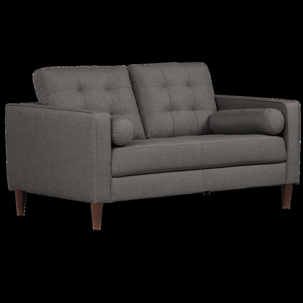 canap 2 places fixe en tissu gris restanque romeo. Black Bedroom Furniture Sets. Home Design Ideas