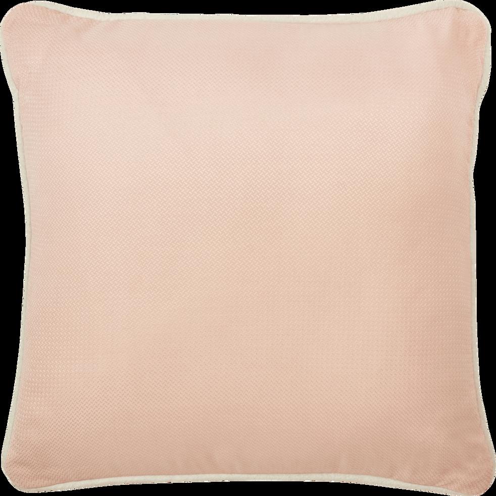 Coussin en coton rose 40x40 cm-EVANGELINE