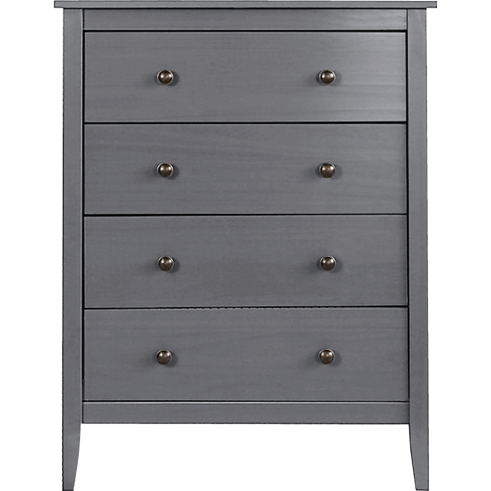 commode 4 tiroirs en pin massif gris anthracite lison commodes alinea. Black Bedroom Furniture Sets. Home Design Ideas