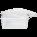 Boîte avec couvercle transparente en plastique 15L-NEW TOP