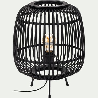 Lampe en bambou - noir H37xD29cm-Nimes