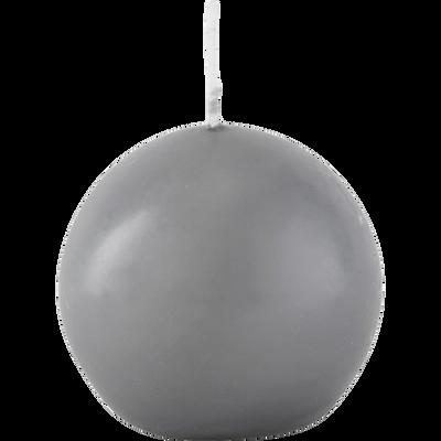 Bougie boule gris restanque-HALBA
