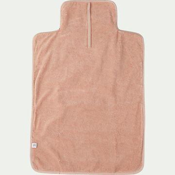 Matelas à langer bébé en coton bio avec broderie - rose salina-Nuage