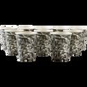 Lot de 10 verres en carton motifs laurier 25cl-SAZE