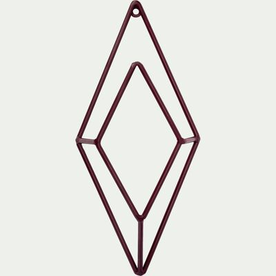 Patère losange en métal - rouge H30cm-PACHA