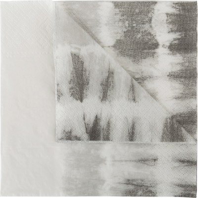 Lot de 20 serviettes en papier décoré gris 33x33cm-ORION