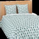 Housse de couette en coton à motifs 240x220cm et 2 taies d'oreillers-AMPHORES