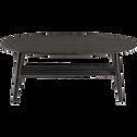 Table basse ovale en bois noir-SURF