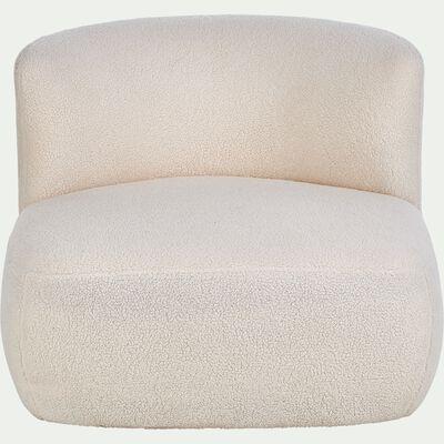 Fauteuil tissu effet moutonné - blanc capelan-COTTI