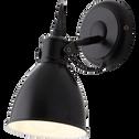 Applique/spot en métal noir 21,5cm à 1 lumière-PRIDDY