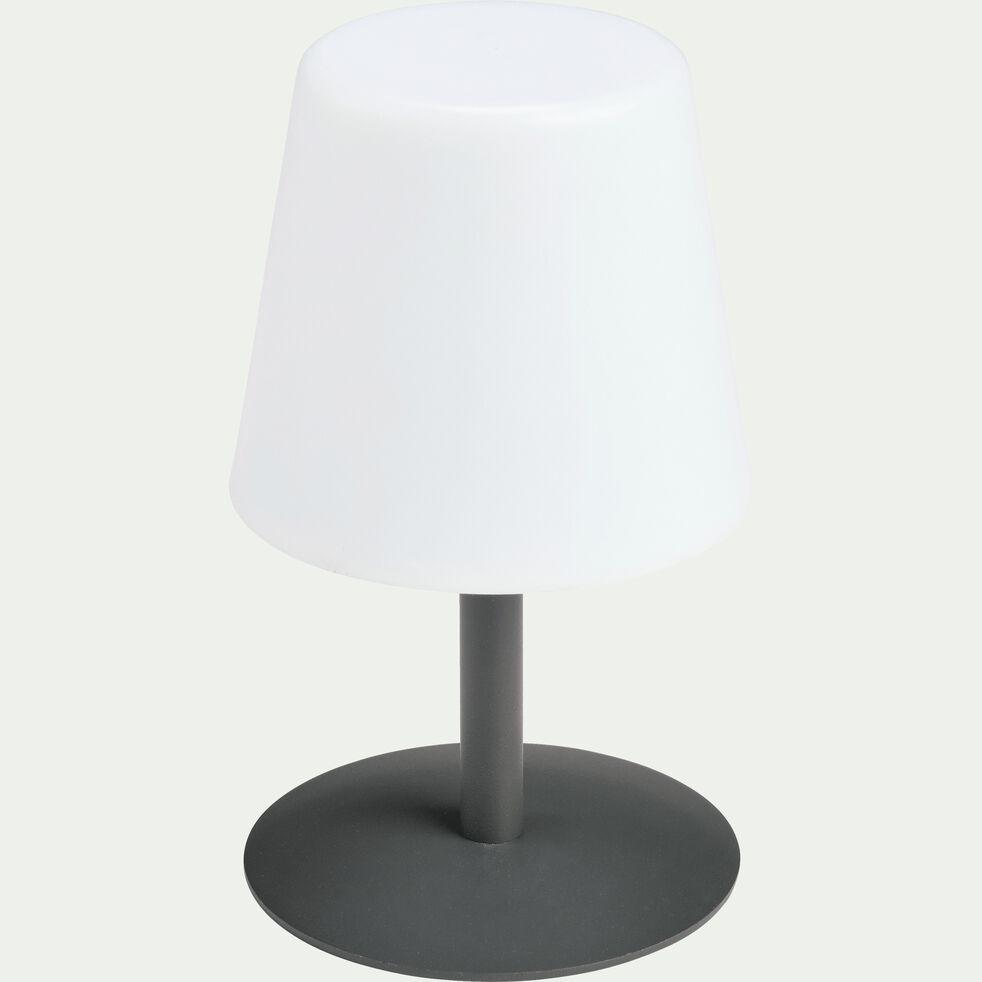Lampe de table nomade avec pied en métal gris H26cm-MUGEL