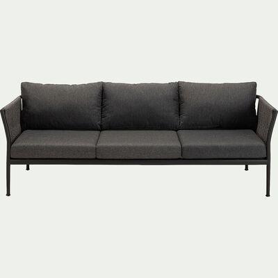 Canapé de jardin en corde - gris (3 places)-KONYA