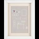 Cadre photo en bois (plusieurs coloris et tailles)-Hapa