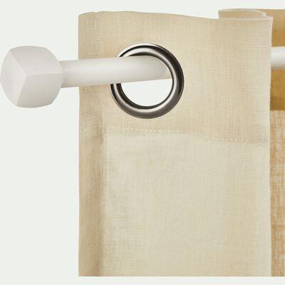 Kit tringle en acier blanc extensible 120 à 170 cm-LISON