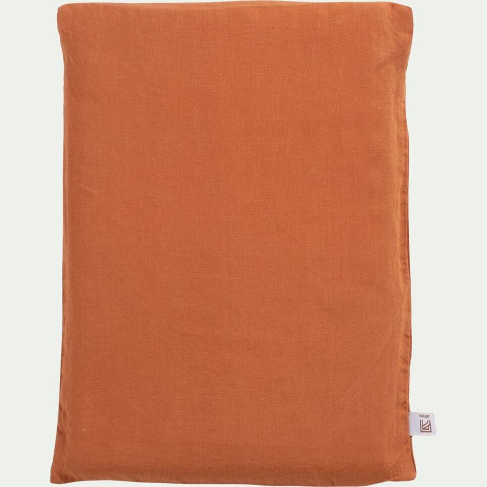 Drap plat en lin - brun rustrel 270x300cm-VENCE