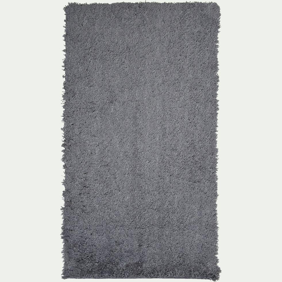 Descente de lit shaggy - gris restanque 60x110cm-CELAN