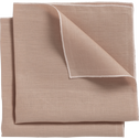 Lot de 2 serviettes en lin et coton rose argile 41x41cm-MILA