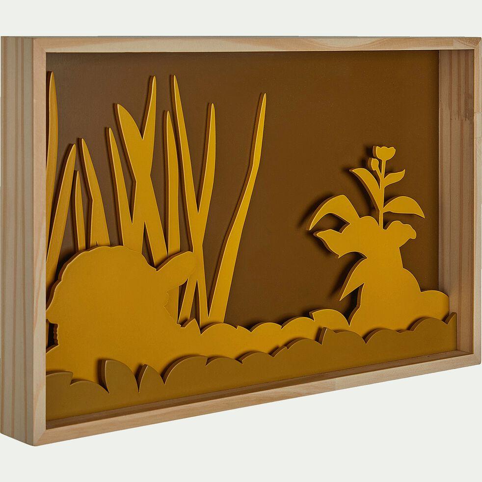 Cadre photo au décor prairie - jaune-Tableù