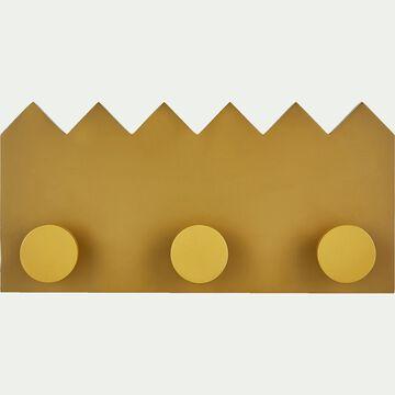 Patère en bois avec 3 points d'accroche - jaune argan-Penjadou