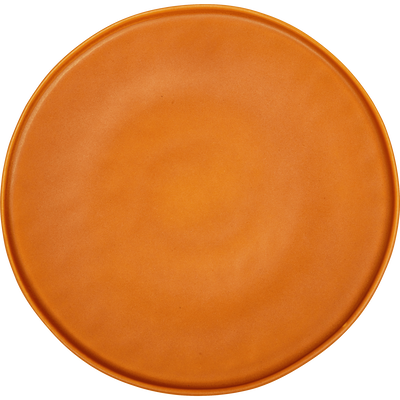 Assiette plate en grès orange D27,5cm-COPA
