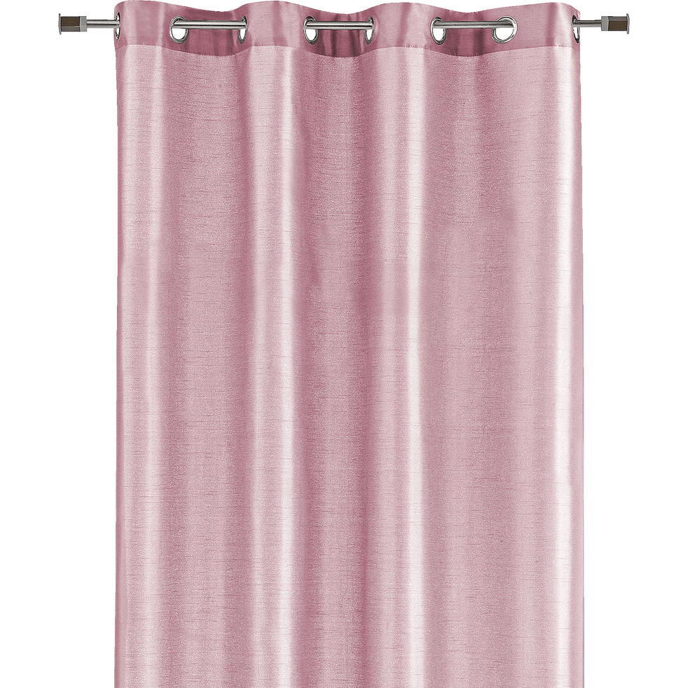 Rideau à œillets rose poudré 140x250cm-SAGA