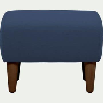 Pouf en tissu - bleu marine-LEGGY