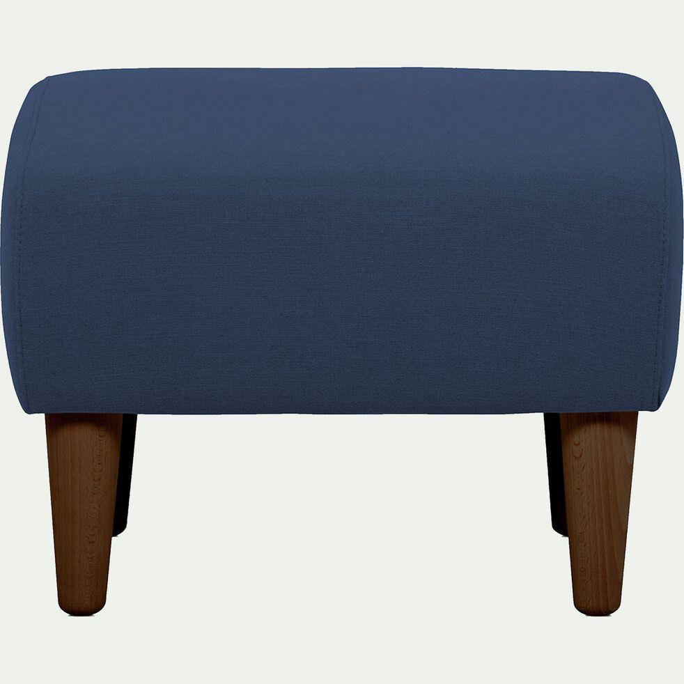 Pouf en tissu bleu marine-LEGGY