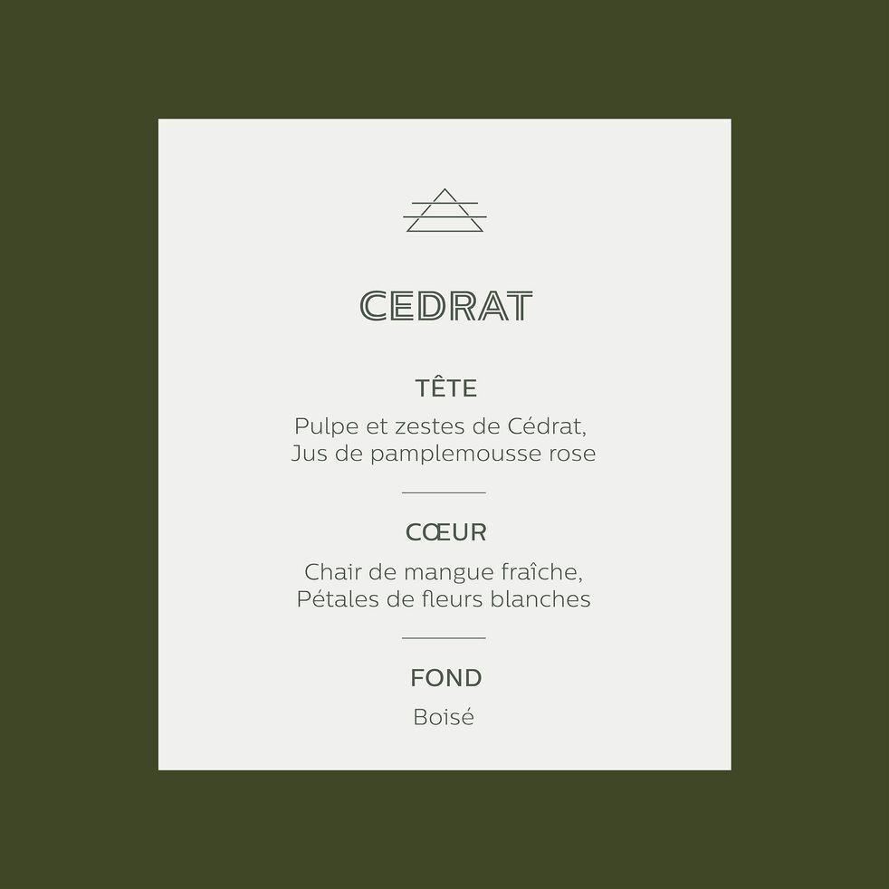 Bougie parfumée Cedrat 140g-ESSENTIEL