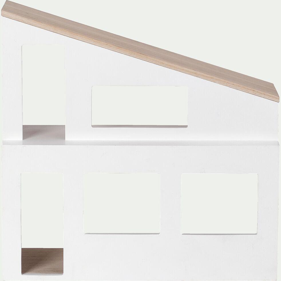 Étagère en forme de maison - blanc-Oustau