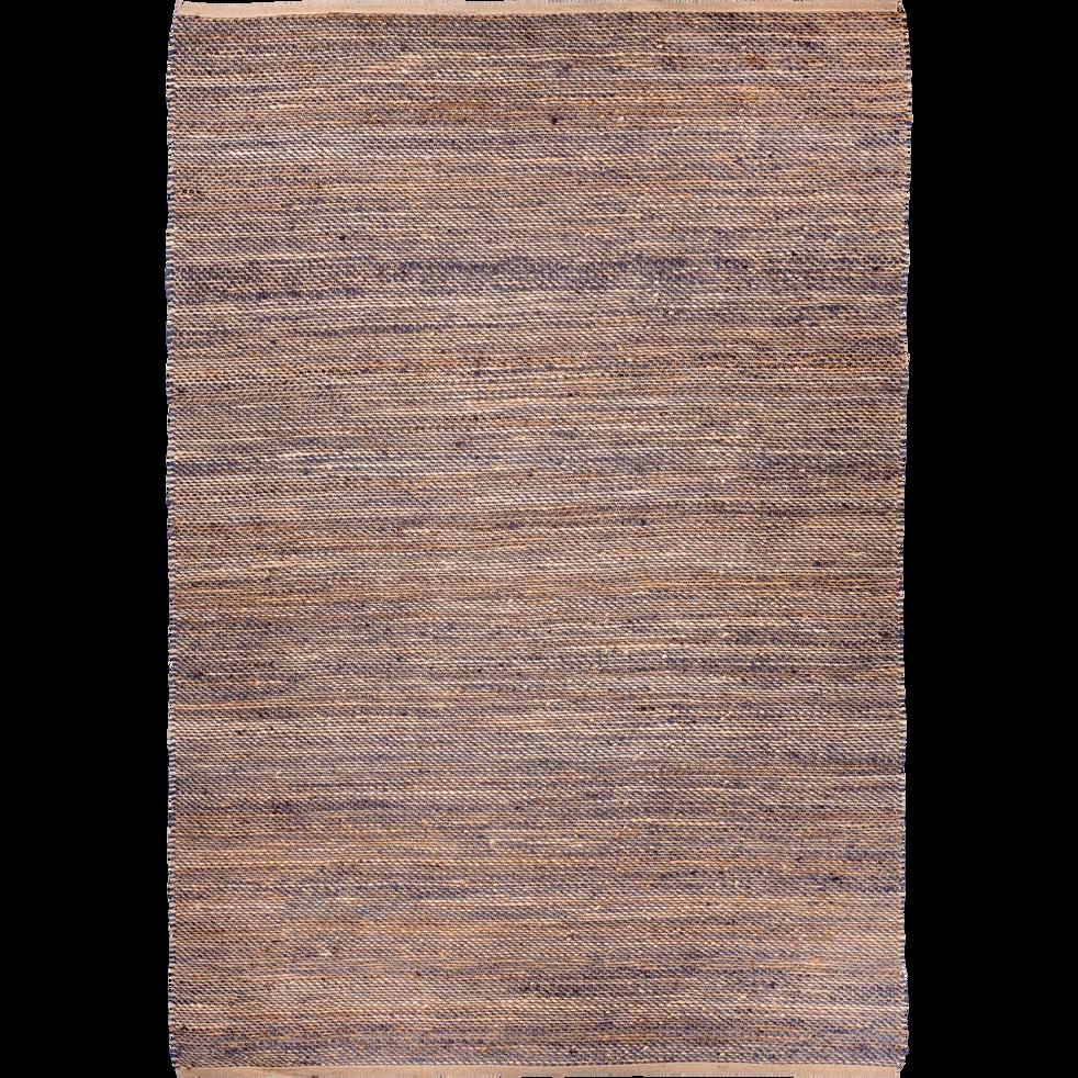Tapis Tresse En Jute Naturel Et Bleu 160x230cm Aaron 160x230 Cm