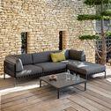 Fauteuil de jardin en aluminium gris anthracite-ALEX