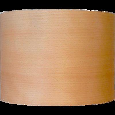 Abat-jour cylindrique en bois de placage hêtre D20cm-NATURE