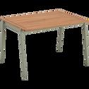 Table de jardin enfant 50x82x60cm vert olivier-MAXIME