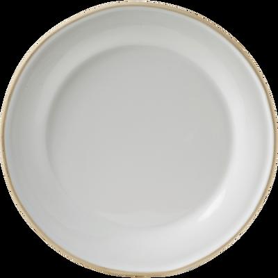 Assiette à dessert en faïence blanche D22cm-LUBERON